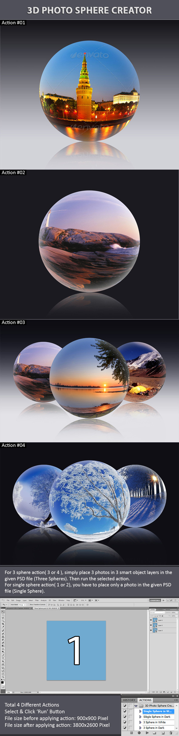 3D Photo Sphere Creator - Utilities Actions