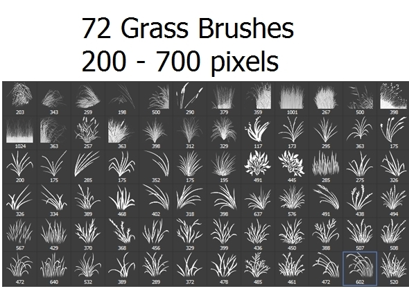 72 Photoshop Grass Brushes - Miscellaneous Brushes
