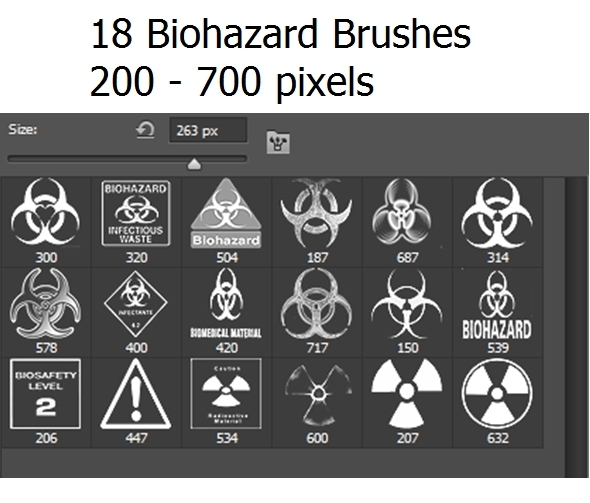 18 Photoshop Biohazard Brushes - Miscellaneous Brushes