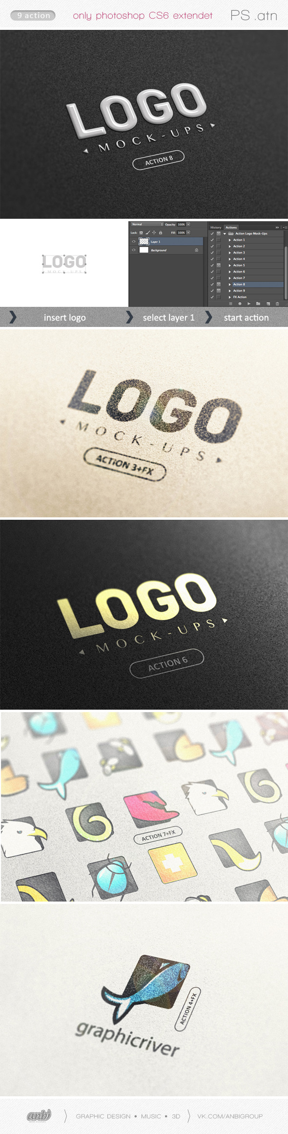 Action Logo Mock-Ups - Text Effects Actions