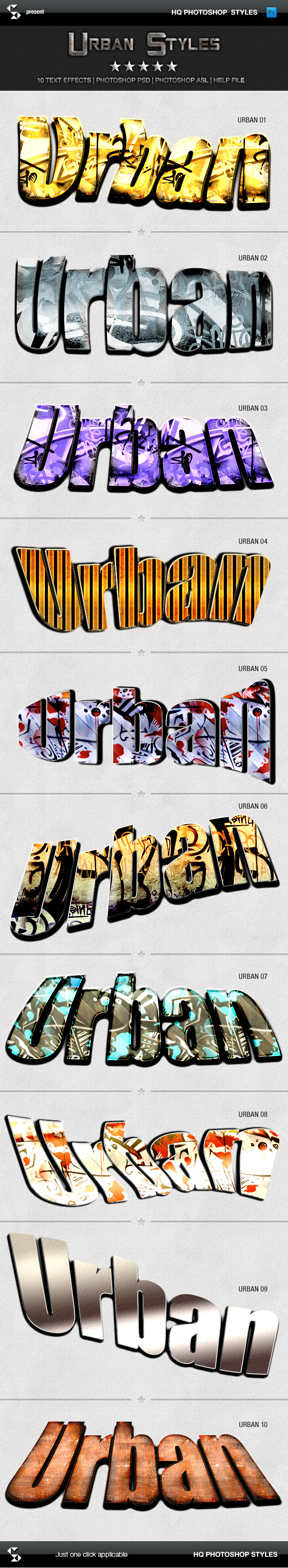 Urban Styles - Street and Graffiti - Text Effects Styles