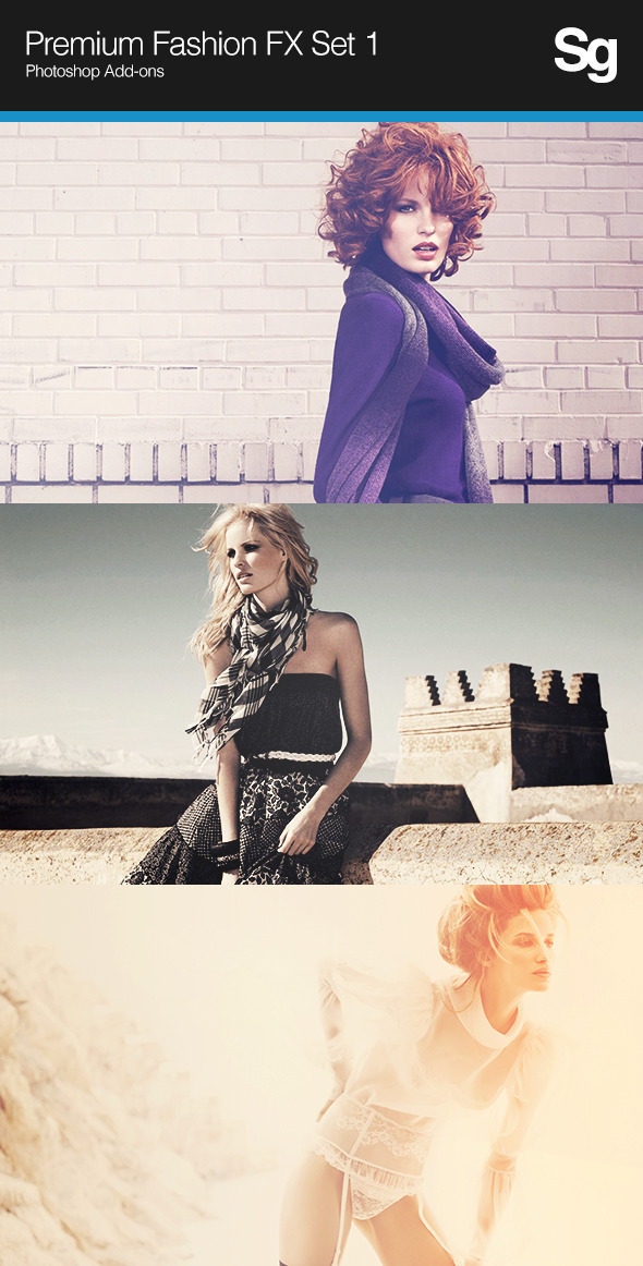 Premium Fashion FX Set 1 - Photo Effects Actions
