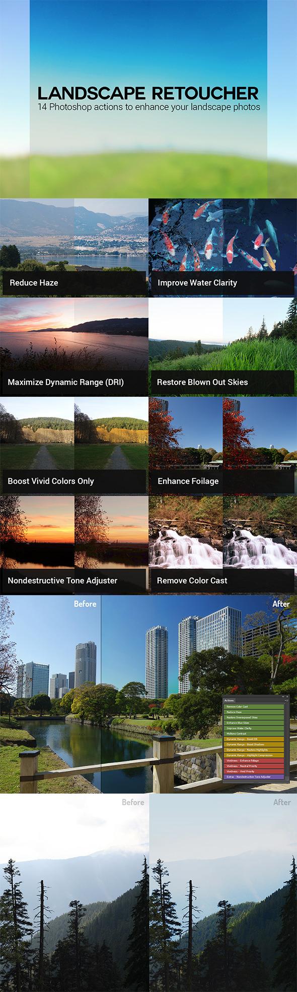 Landscape Retoucher - Photo Effects Actions