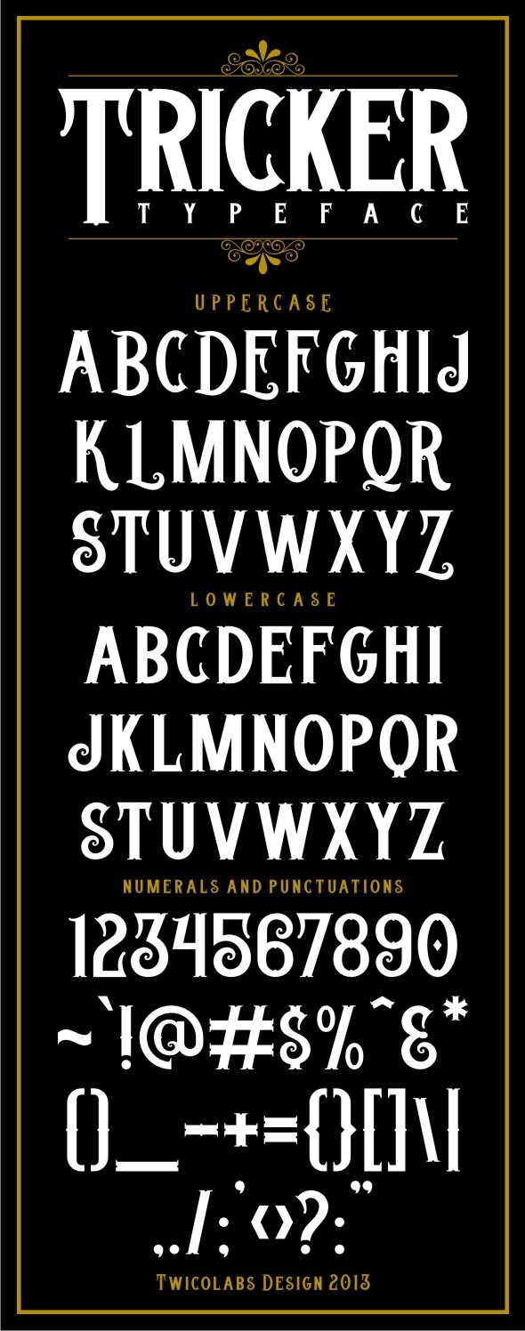 Tricker Typeface - Gothic Decorative