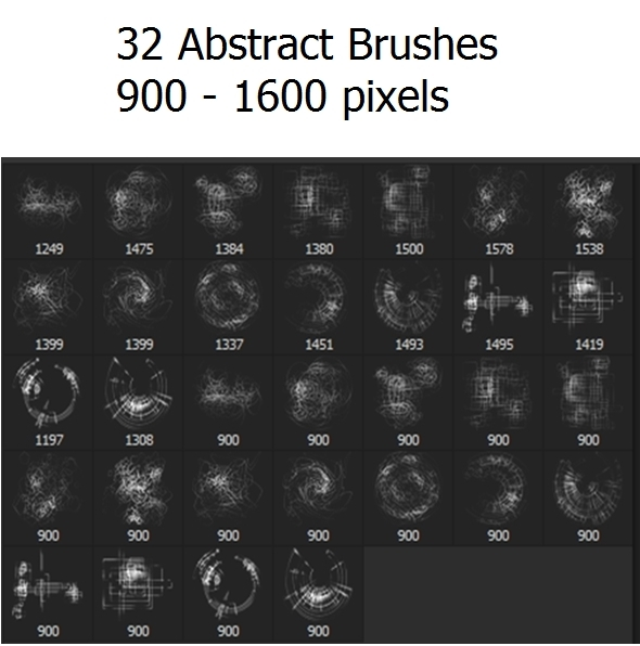 32 Abstract Brushes - Abstract Brushes