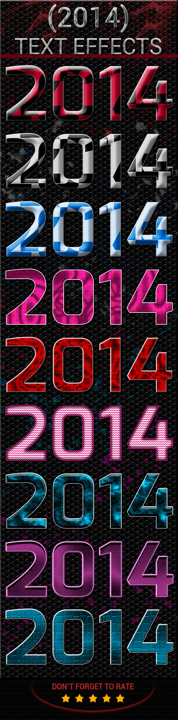 New Year Text Effect - Text Effects Styles