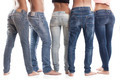 Rear View Of People Wearing Blue Jeans - PhotoDune Item for Sale