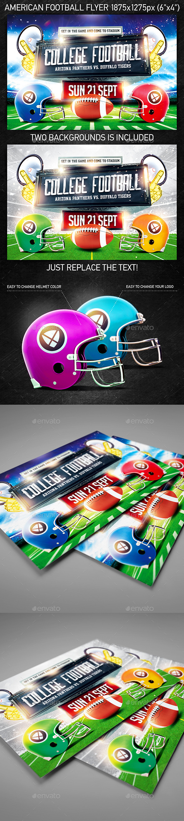 American Football Game Flyer vol.3 - Holidays Events
