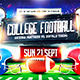 American Football Game Flyer vol.3 - GraphicRiver Item for Sale