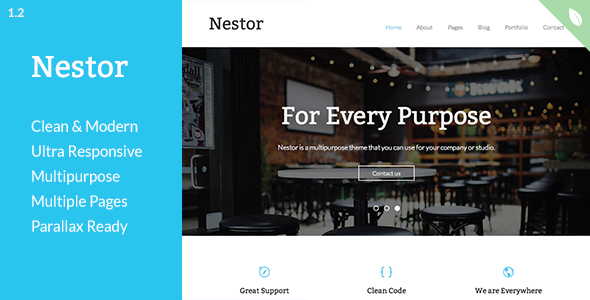 Nestor – Responsive Drupal Theme