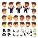 Set of Cartoon Businessman Characters - GraphicRiver Item for Sale