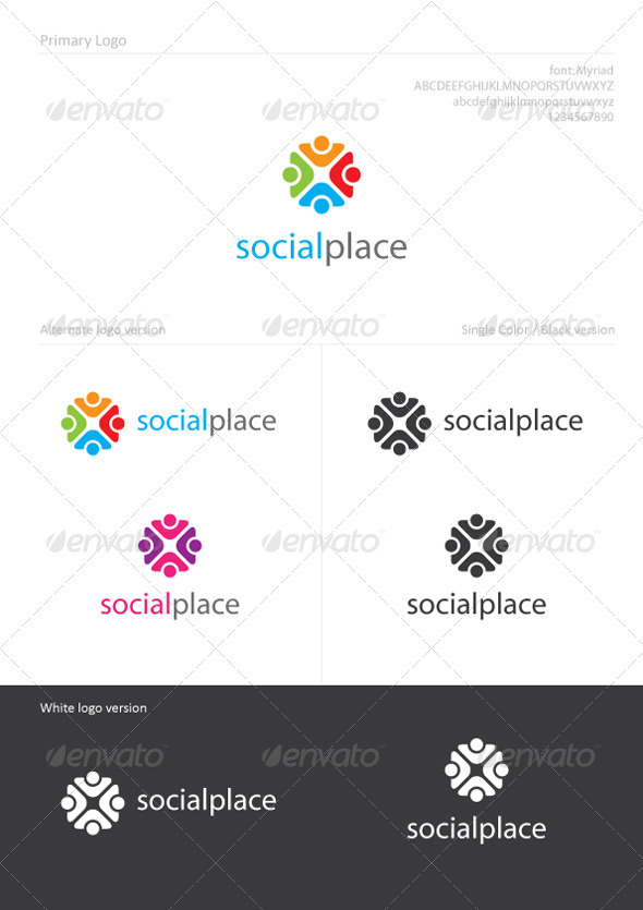 SocialPlace - Humans Logo Templates