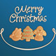 Merry Christmas Cookies Card Blue - GraphicRiver Item for Sale
