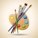 Palette with Paint Brushes - GraphicRiver Item for Sale