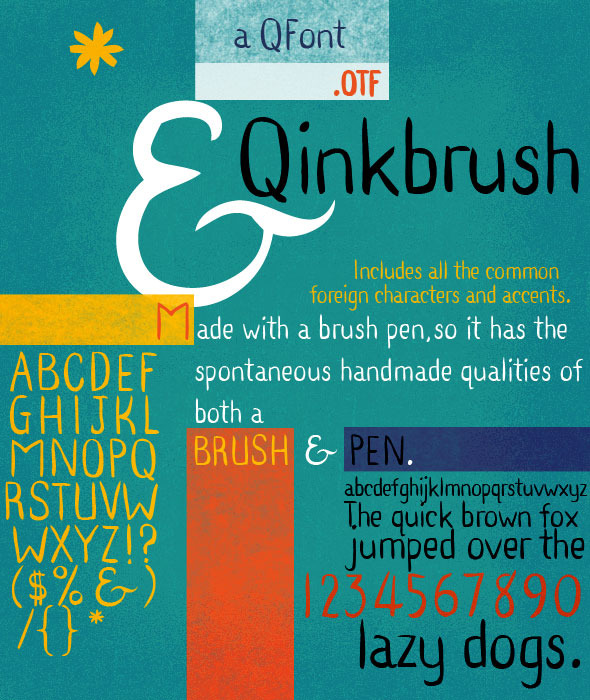 Ink Pen & Brush Hand Lettering - Qinkbrush - Handwriting Fonts