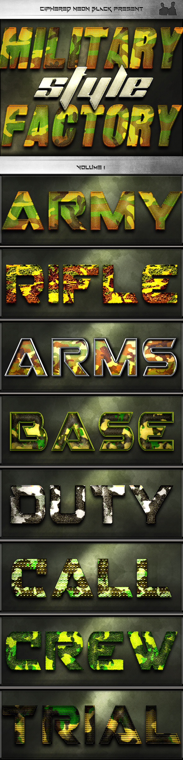 Military Style Factory - Volume 01 - Text Effects Styles