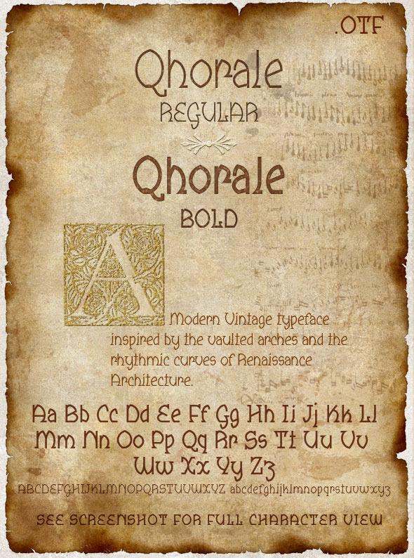Qhorale Regular & BOLD Modern Latin - Sans-Serif Fonts