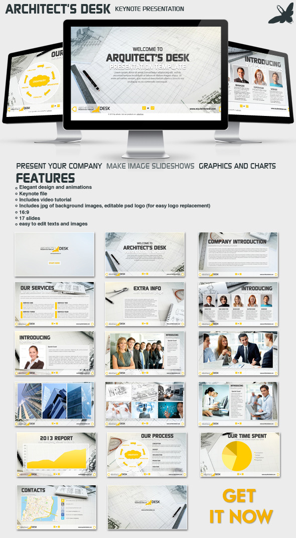 Architects Desk Presentation - Business Keynote Templates