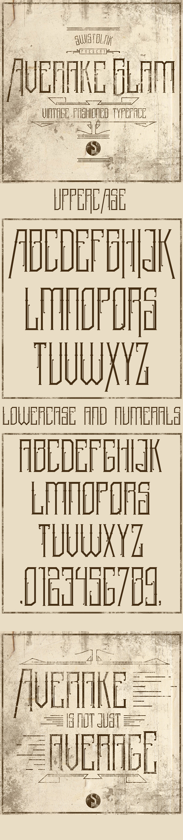 Averake Glam - Decorative Fonts