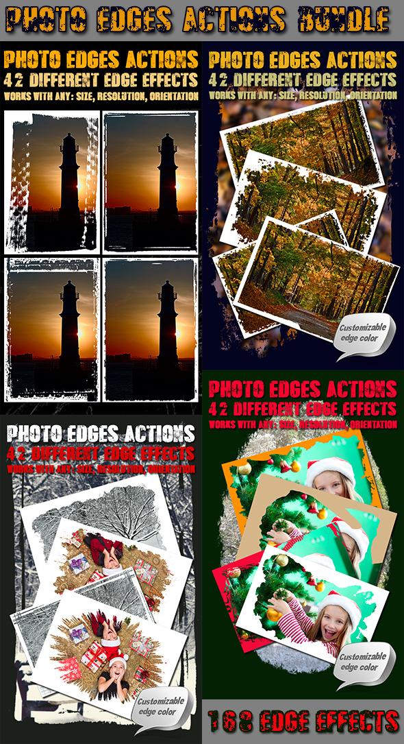 Photo Edges Actions for Photoshop Bundle - Actions Photoshop