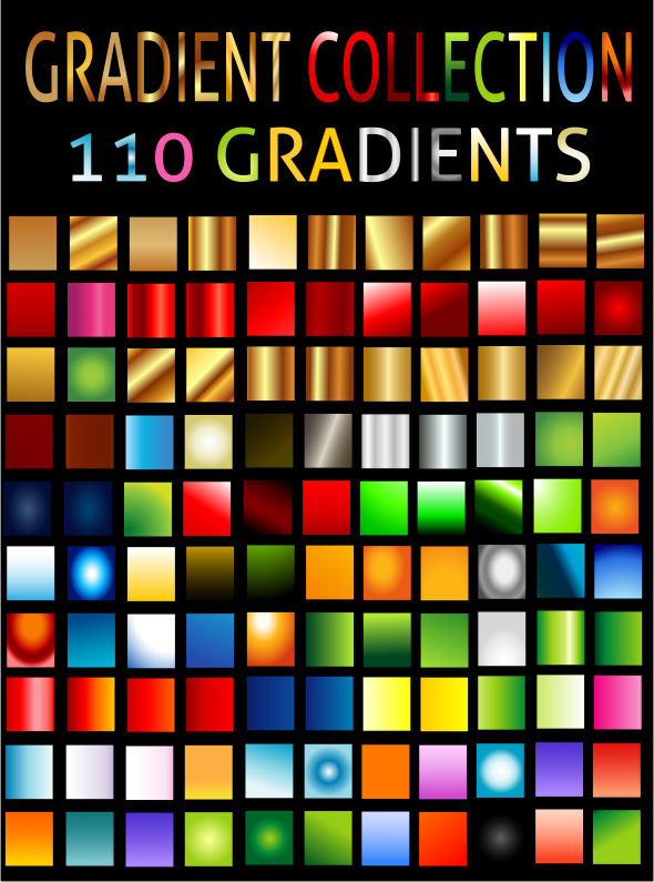 All Types Of Gradient Collection - Textures / Fills / Patterns Illustrator