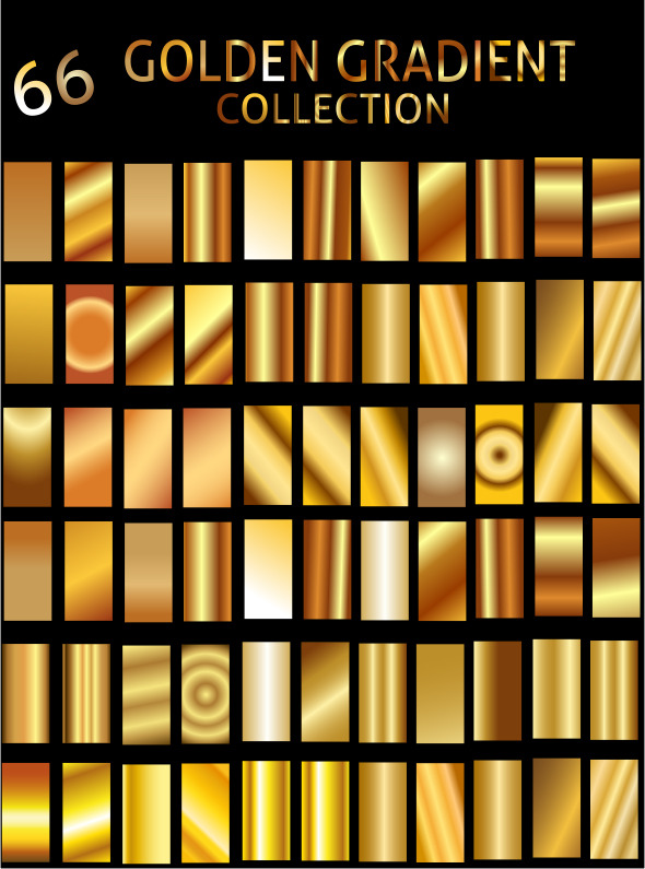 Illustrator Golden Gradient Collection - Textures / Fills / Patterns Illustrator