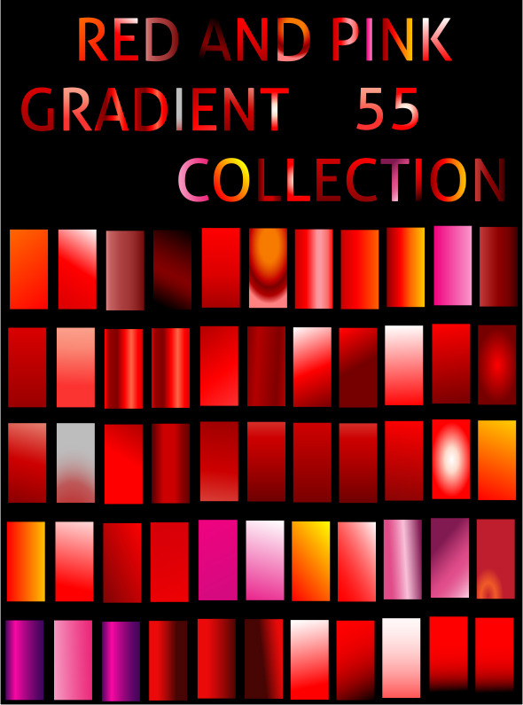 Illustrator Red Gradient Collection - Illustrator Add-ons