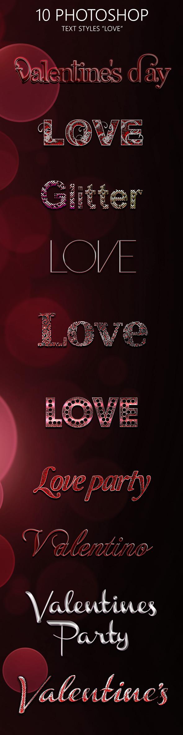 10 Love Photoshop Style - Styles Photoshop