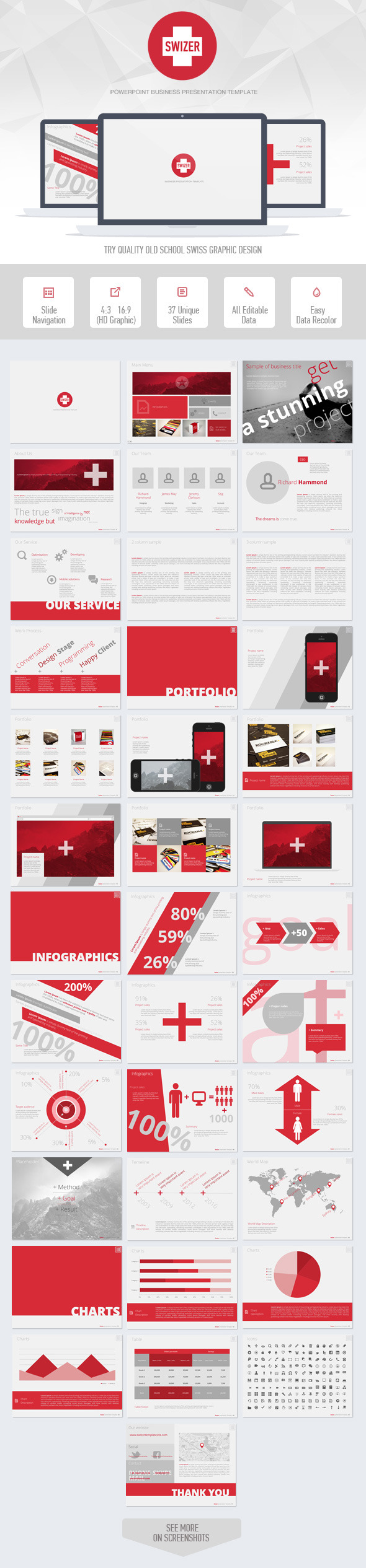 Swizer Powerpoint Presentation Template - Business PowerPoint Templates