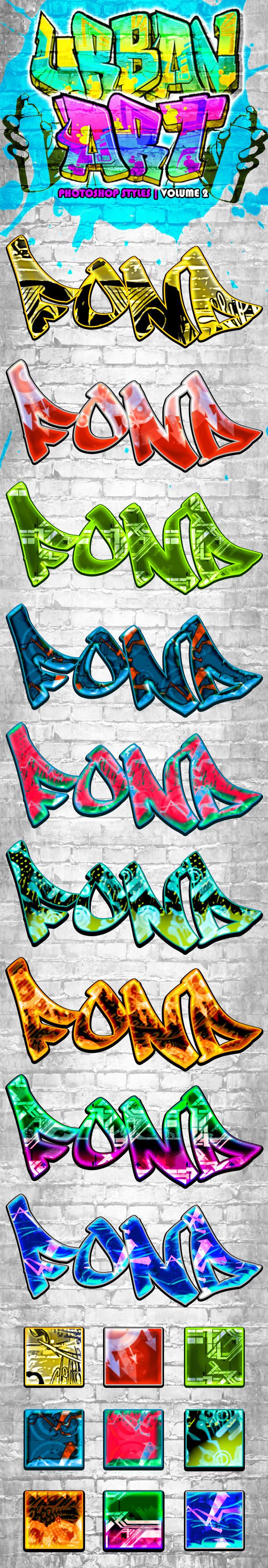 Urban Art Graffiti Styles Volume 2 - Text Effects Styles