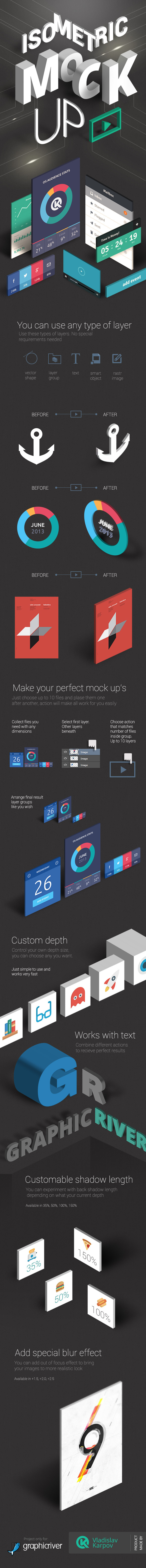 Isometric Mock-UP Actions vol.2 - Actions Photoshop