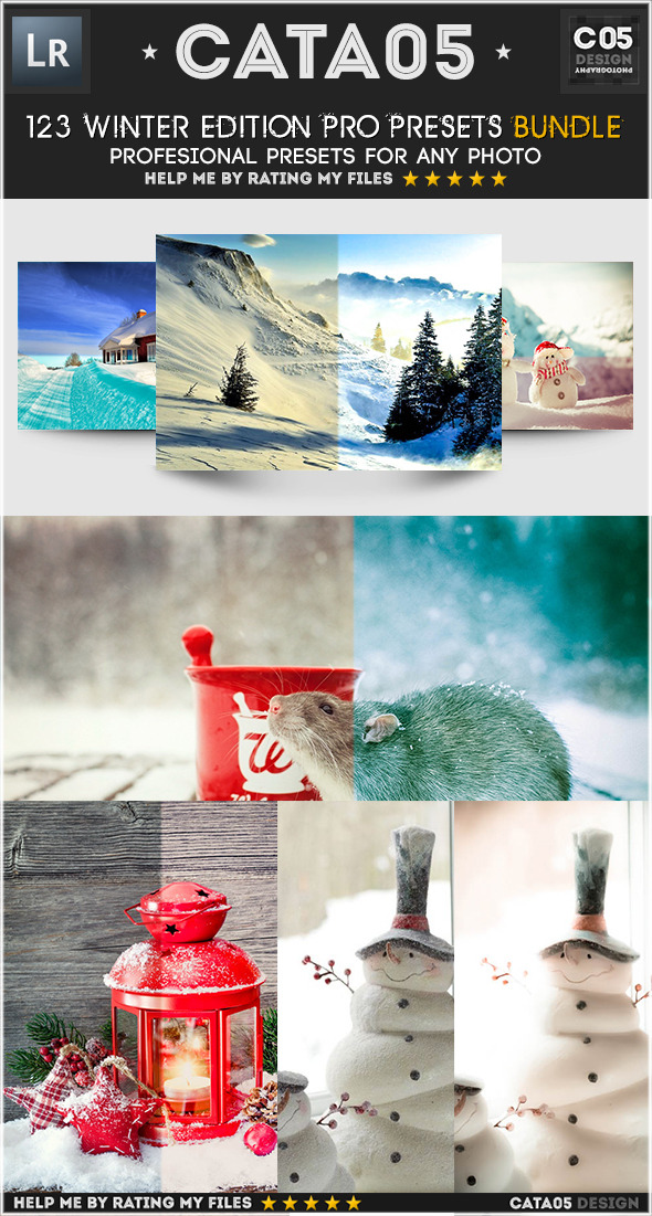 123 Winter Edition Pro Presets Bundle - Landscape Lightroom Presets