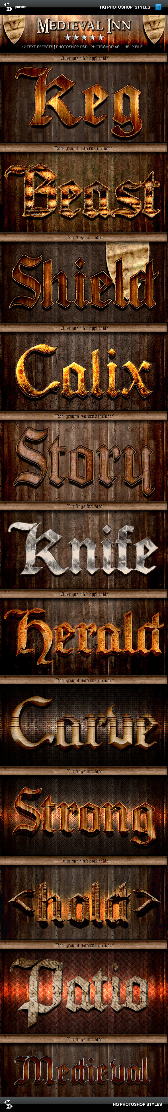 Fantasy Styles - Medieval Inn - Text Effects Styles