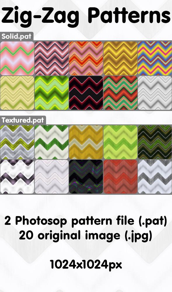 Zig-Zag Patterns Pack - Techno / Futuristic Textures / Fills / Patterns