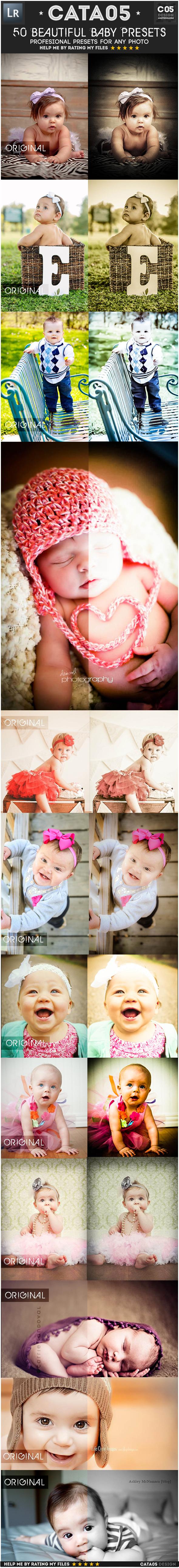 50 Beautiful Baby Presets - Portrait Lightroom Presets
