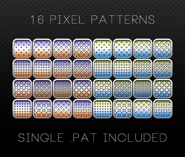 16 Pixel Patterns - Miscellaneous Textures / Fills / Patterns