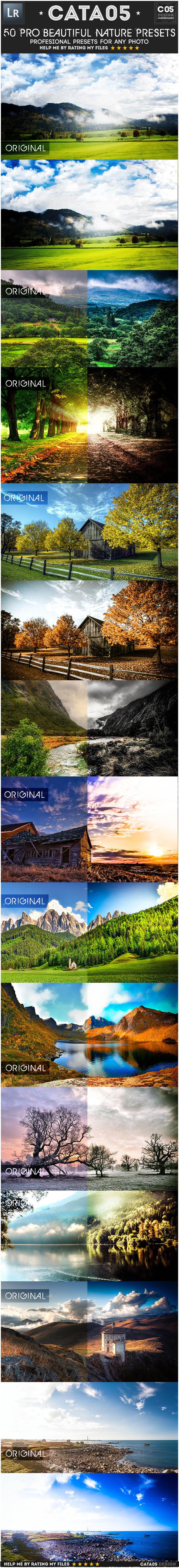 50 Pro Beautiful Nature Presets - Landscape Lightroom Presets