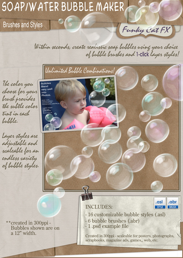 Bubble Maker  (brush & style) - Miscellaneous Styles