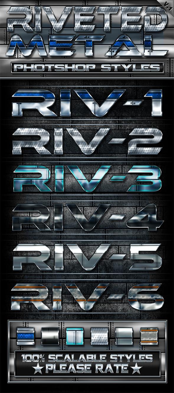 Riveted Metal v1 - Text Effects Styles