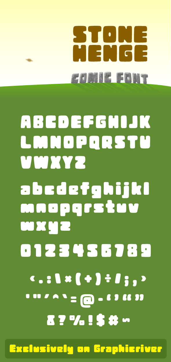 Stonehenge Font - Comic Decorative