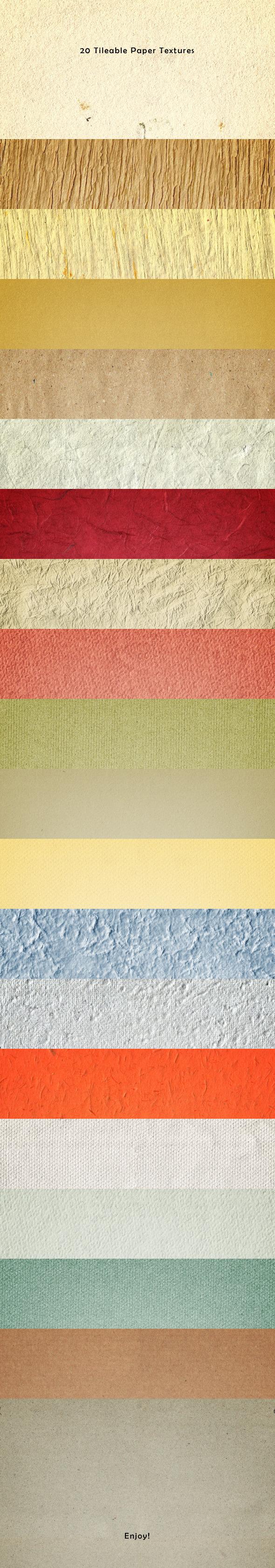20 Tileable Paper Photoshop Textures - Textures / Fills / Patterns Photoshop