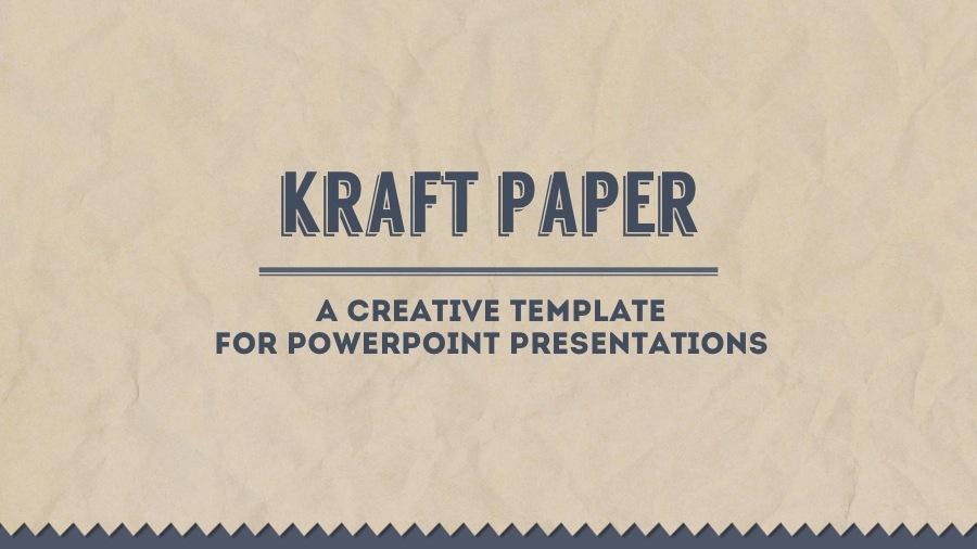 kraft paper powerpoint presentation template83munkis, Modern powerpoint