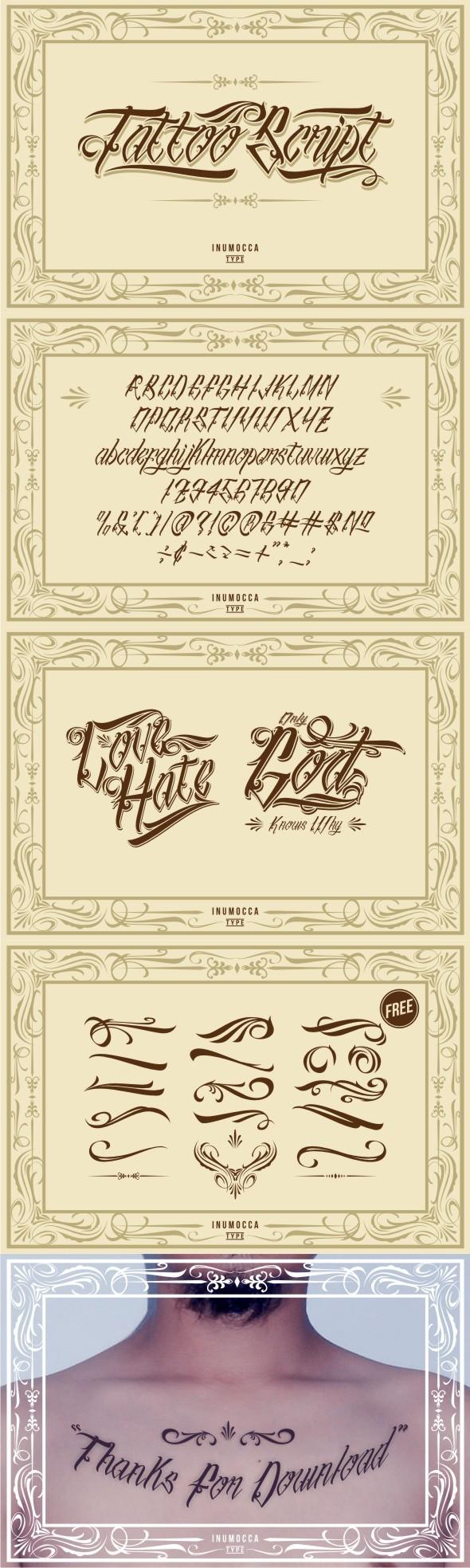 Tattoo Script - Hand-writing Script