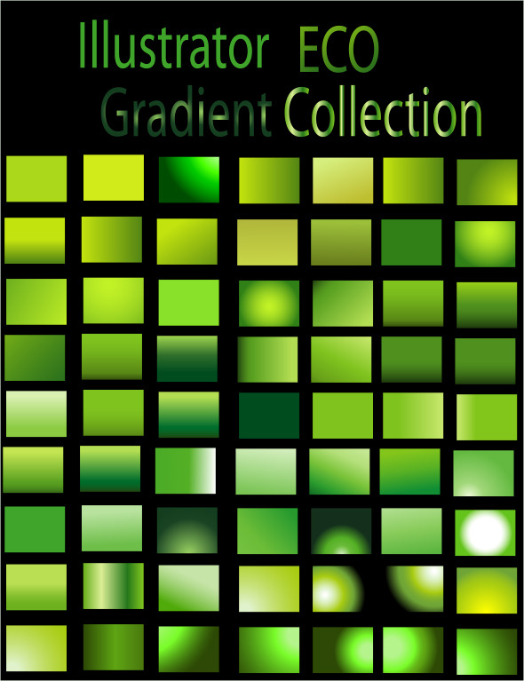 Eco Illustrator Gradient Collection - Textures / Fills / Patterns Illustrator