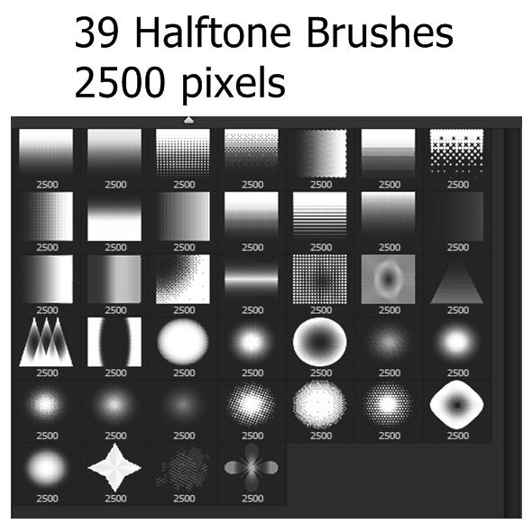 39 Halftones Brushes - Artistic Brushes