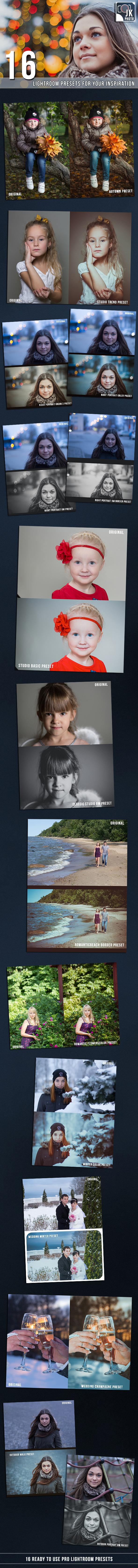 16 Pro Presets - Portrait Lightroom Presets