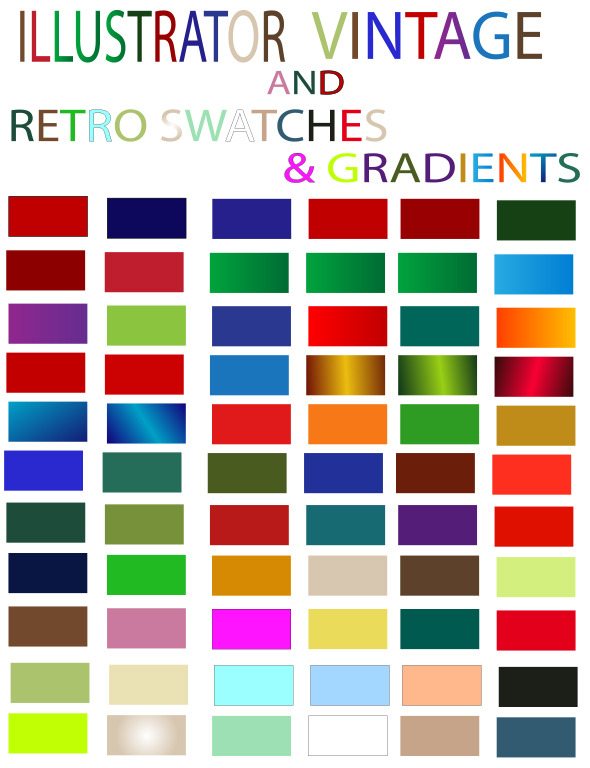 Vintage And Retro Gradients And Vector Swatches Se - Textures / Fills / Patterns Illustrator