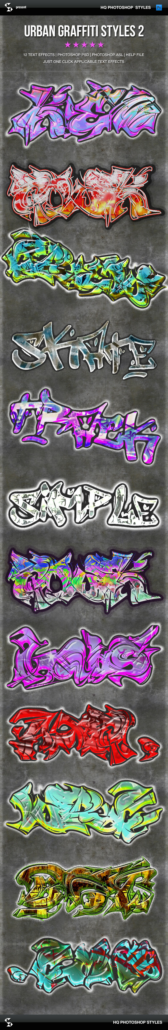 Urban Graffiti Text Effects 2 - Text Effects Styles