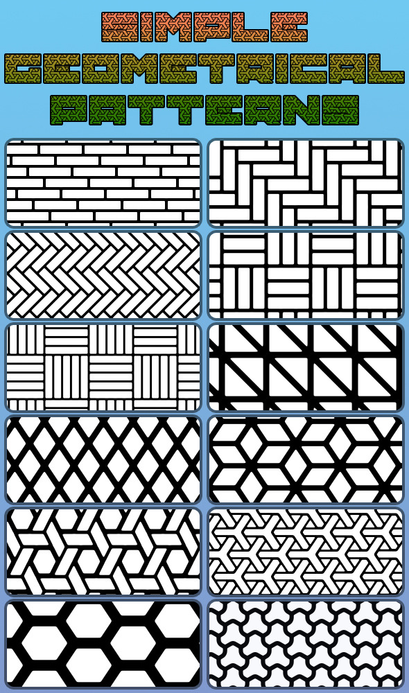 Simple Geometrical Patterns - Abstract Textures / Fills / Patterns