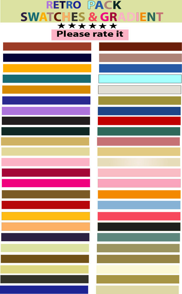 Retro Vector Swatches & Gradient Set - Textures / Fills / Patterns Illustrator